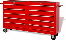 Topdeal Workshop Tool Trolley with 10 Drawers Size
