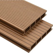 Topdeal WPC Hollow Decking Boards with Accessories