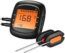 TOPELEK Bluetooth Thermometer, Black
