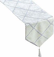 Topfinel Diamond Shaped Stripes Table Runner Cloth