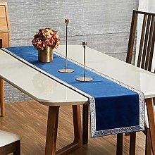 Topfinel Navy Dining Table Runner 90 Inches 7.5ft