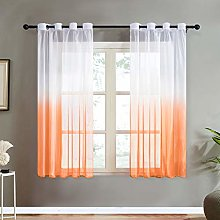 Topfinel Orange Gradient Voile Curtain 63 Drop 2