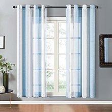 Topfinel Semi Voile Curtains Eyelet Ring Top Yarn
