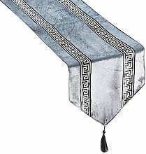 Topfinel Stripe Geometric Table Runner Cloth with