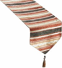 Topfinel Striped Table Runner Cloth with Tassels