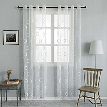Topfinel Transparent curtain with eyelets