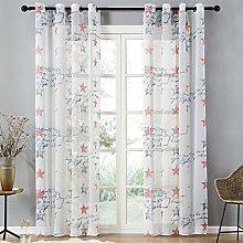 Topfinel Voile Curtains Eyelet 54x84 Drop 2 Panels