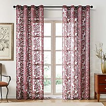 Topfinel Voile Curtains Eyelet Glass Yarn Thick