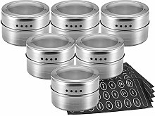TopHGC Magnetic Spice Jars, Stainless Steel &