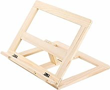 TopHGC Wooden Book Stand, Adjustable Angle Reading