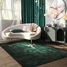 Topinged Modern Living Room Rug Green/Dark