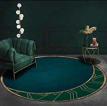 Topinged Round Modern Chic Rug Green Emerald