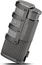 TOPKAY Cigar Lighter, Triple Jet Flame Torch