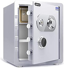 TOPNIU Home Fireproof Safe, Mechanical Lock + Key