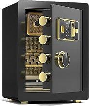 TOPNIU Safe Steel Fireproof Safe Box, Fingerprint
