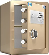 TOPNIU Safe Steel Home Safe Box, Fireproof and