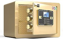 TOPNIU Safes Steel Safe Box, Fireproof and