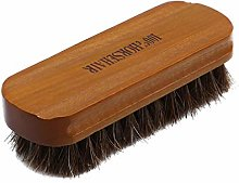 Toporchid Horsehair Shoe Brush Natural Wooden Soft