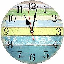 TOPPTIK Rustic Beach Wall Clock-12 Inch Coastal