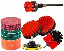 TOPSALE 14Piece Drill Brush Attachments Set,Red