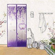 TOPWA Polyester Magnetic Screen Door Bug Net Mesh