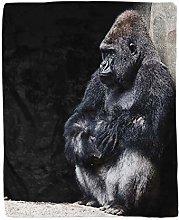 Topyee 130x150 cm Throw Blanket Silver Animal