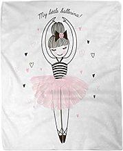 Topyee 150x200 cm Throw Blanket Princess Cute