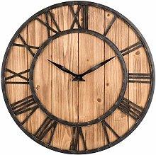 Toright Farm House Metal & Solid Wood Wall Clock