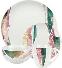 Torn Porcelain 16 Piece Dinner Set