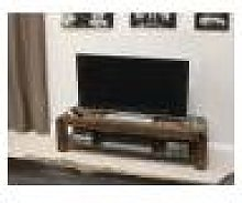 Toronto Walnut Low TV Cabinet Fully Assembled