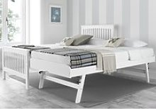 Toronto White Wooden Guest Bed Frame and Trundle -