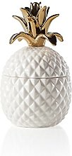 Torre & Tagus Pineapple Gold Crown White Ceramic