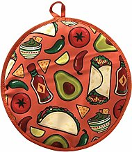 Tortilla Warmer Microwavea Burrito Fabric Bag Long