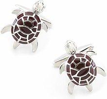 Tortoise Cufflinks, Men's Tortoise Design,