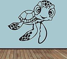 Tortoise Wall Decal Friendly Cartoon Turtle Funny