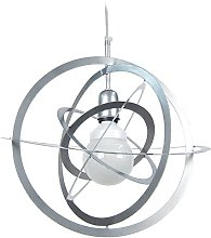 Tosel 11396 Pendant Light with Saturn Rings Steel