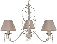 Tosel 20896 Chandelier, Tube and Sheet Steel,