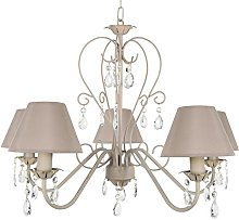 Tosel 20904 Chandelier, Tube and Sheet Steel,