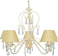 Tosel 20905 Chandelier, Tube and Sheet Steel,