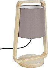 Tosel 64764Legno Lamp Beech Wood/Natural/Taupe