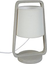 Tosel 64773Legno Lamp Beech Wood/Cotton