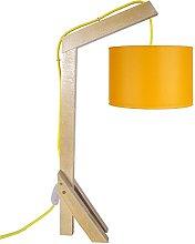 Tosel 90156Giraffe 2Beech Wood Desk Lamp