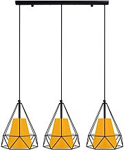 Tosel Chandelier, E27, 40 W, Yellow