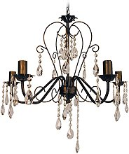 Tosel E2279 Chandelier, Tube and Sheet Steel,