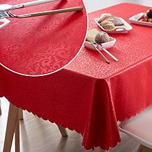 TOSISZ PVC Oilproof Tablecloth Waterproof Table
