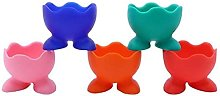 TOSSPER 5pcs Silicone Egg Cup Holders Poached Egg