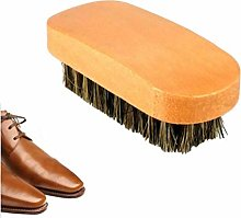 TOSSPER Pig Hair Shoe Shine Brushes With Horse