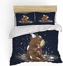 Totots Extra Large Quilt Cover Brown Cute Bear