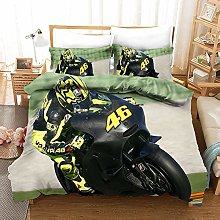 Totots Three-piece Motorcycle-themed Home Textile,