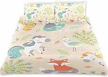Totun Duvet Cover Set Animal Pattern Decorative 3